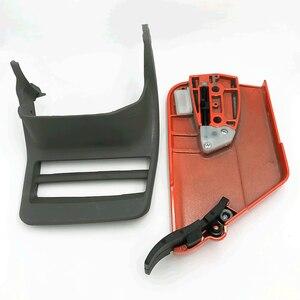 Image 5 - Capa de embreagem para roda de caça, peça de proteção frontal tensor de alavanca de freio para husqvarna 365 371 372 372xp 362