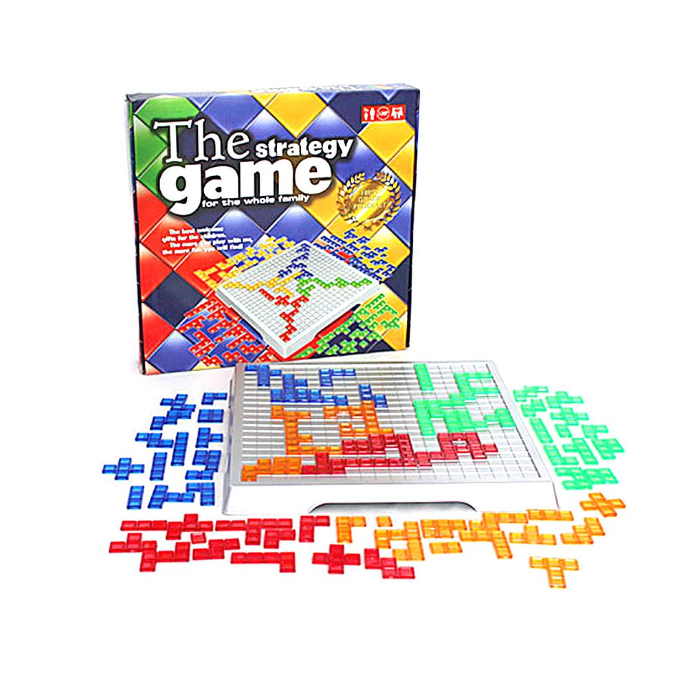 Strategy Blokus Deck Board Game Educational Toys 484 Squares Easy Play For Kids Family Russian Box Series Games Entertainment