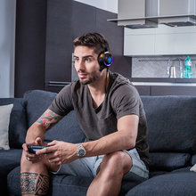 USB LED Game Light Headphone Noise Isolating Over-Ear wired Gaming Headset with Mic for PC/Laptop Gamer цена