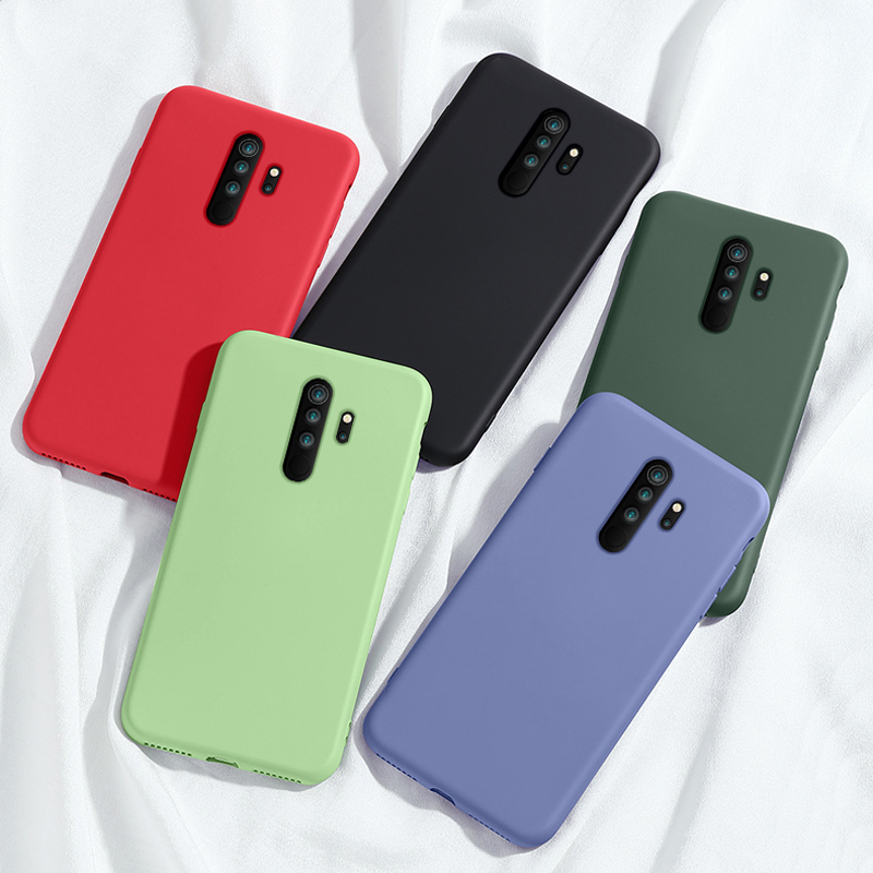 For Xiaomi Redmi Note 8 Pro 8T Case Liquid Silicone Shockproof Bumper Soft Phone Case On Redmi Note 8 T 9S 9 Pro Max Case Cover