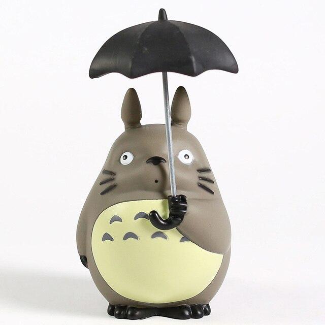 Miyazaki Hayao My Neighbor Totoro with Umbrella PVC Figure Collectible Model Toy