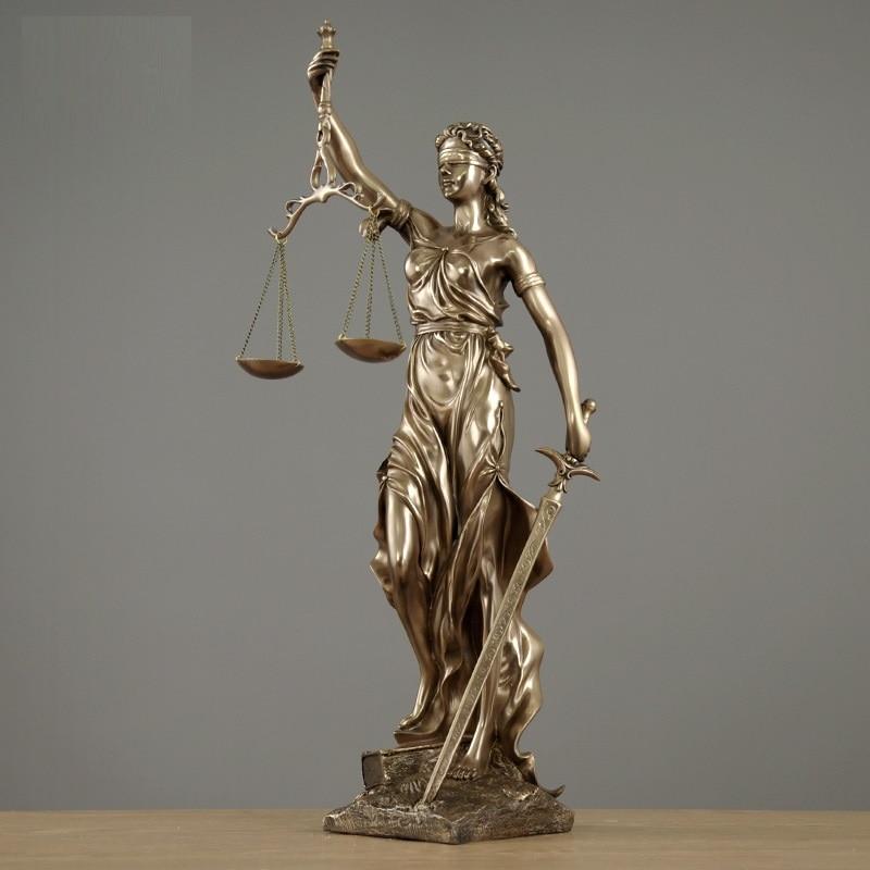 Justice Fair Themis Statues Justitia Goddess Sculpture Resin Art&Craft Home Decoration Accessories Art Material