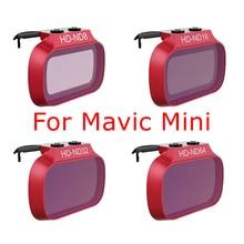 4 adet Mini Mavic filtre DJI Mavic Mini ND8 ND16 ND32 ND64 ND kamera Lens filtreler fotoğraf aksesuarları