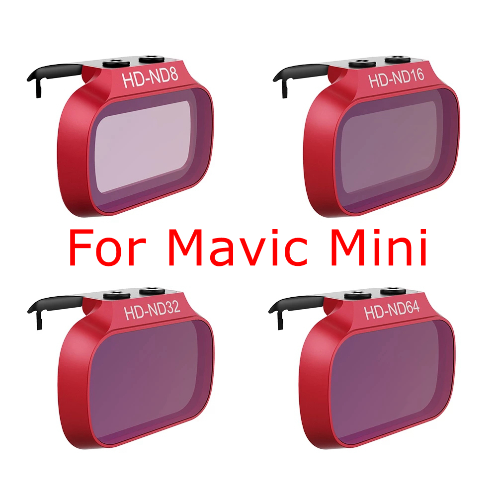 4pcs Mini Mavic Filter For DJI Mavic Mini ND8 ND16 ND32 ND64 ND Camera Lens Filters Photography Accessories