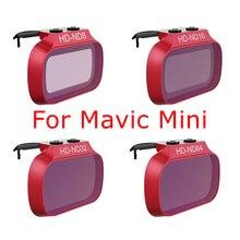 Mini filtro Mavic para DJI Mavic Mini ND8 ND16 ND32 ND64 ND filtros de objetivo de cámara accesorios de fotografía, 4 Uds.