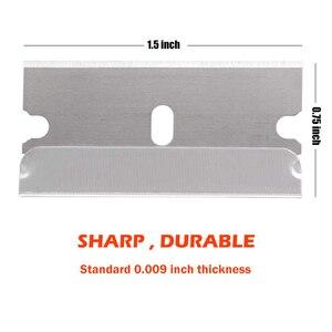 Image 5 - EHDIS – grattoir de lame de rasoir, outil de nettoyage de vitres en céramique, raclette de nettoyage dautocollants de voiture, lame en acier au carbone, enveloppe en vinyle