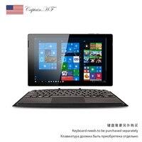 Us captain 10.1 Polegada windows 10 tablet 2-em-1 mini portátil com teclado destacável
