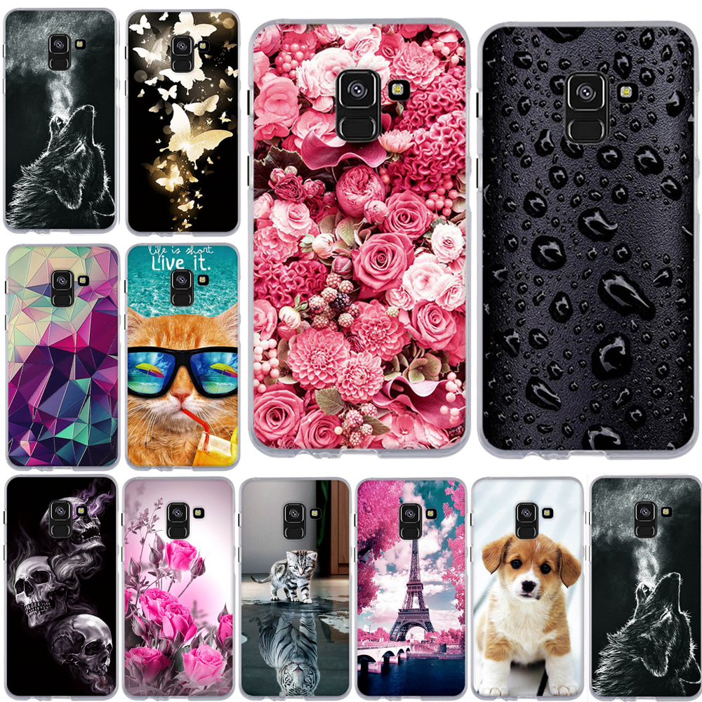 <font><b>Case</b></font> For <font><b>Samsung</b></font> <font><b>Galaxy</b></font> <font><b>A8</b></font> 2018 <font><b>Case</b></font> Cover for <font><b>Samsung</b></font> <font><b>A8</b></font> 2018 A530F Cover TPU Silicone Coque for <font><b>Samsung</b></font> <font><b>Galaxy</b></font> <font><b>A8</b></font> <font><b>Phone</b></font> <font><b>Case</b></font> image