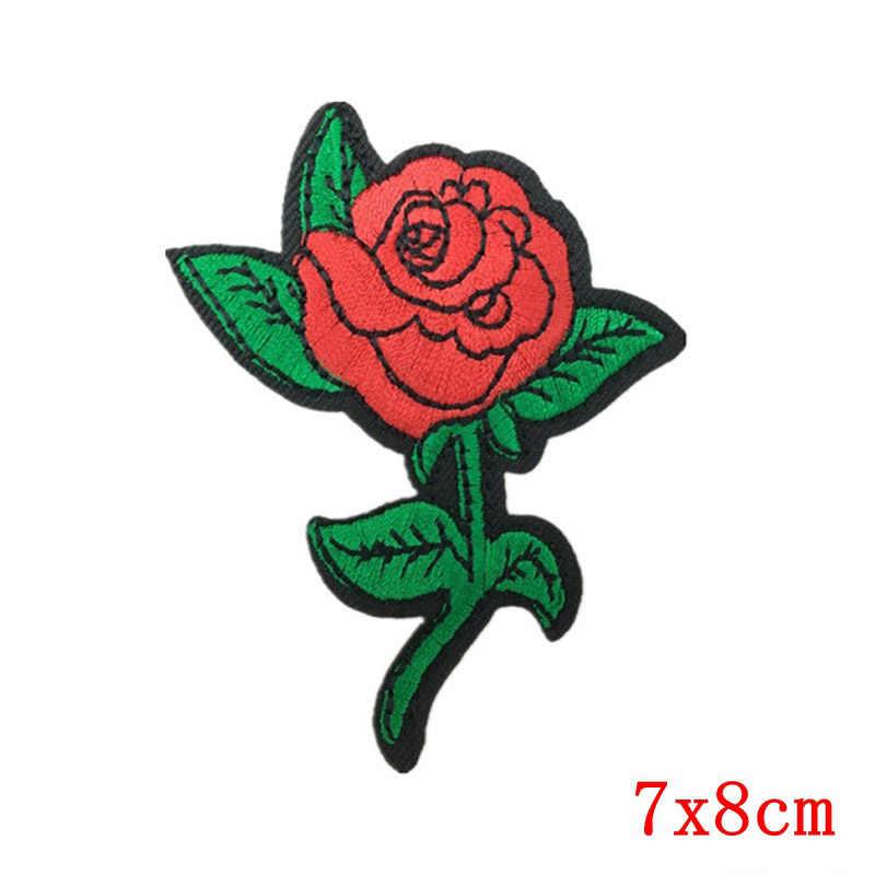 Zotoone DIY Besi Patch untuk Pakaian Bordir Mawar Tentara Payet Patch Set Lencana Stiker Bordiran untuk Pakaian Menjahit Pada Jeans yang
