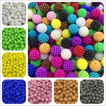 20 sztuk partia 12mm kolorowe koraliki Bayberry okrągłe koraliki dystansowe luzem koraliki Fit europa koraliki do tworzenia biżuterii tanie i dobre opinie RYFDBMauve Other Okrągły kształt Akrylowe U pick Imitation Pearls about 1 5~2mm 20 pcs