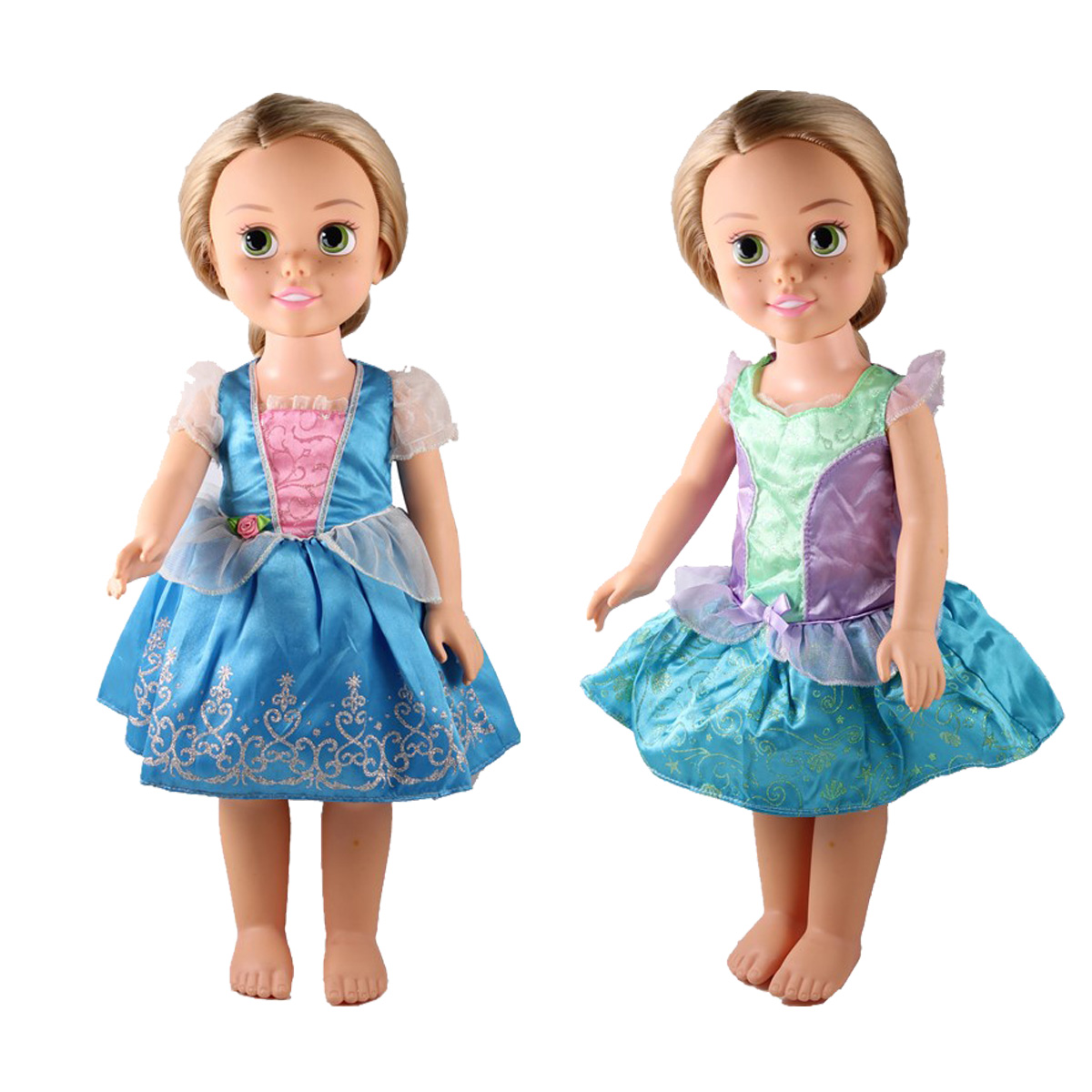 Blue Flower Ruffle Apron 18 in Doll Clothes Fits American Girl