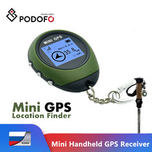Podofo New Mini Handheld GPS Navigation Receiver Location Finder USB Rechargeable with Electronic Compass for Outdoor Travel
