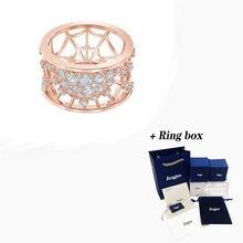 Модный тренд swa Новинка точно кольцо розовое золото элегантное