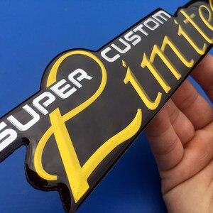 Image 4 - 1X 3D מתכת סופר CUSTOM מוגבלת תגי צד אחורי סמלי מדבקות מדבקות לרכב עבור BMW בנץ אאודי פולקסווגן פורד שברולט רכב סטיילינג