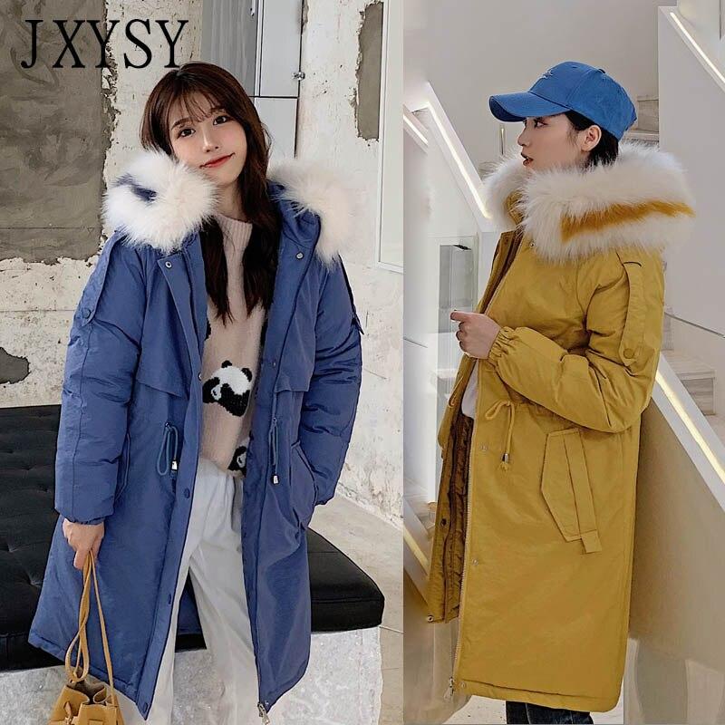 Зимний жакет, женский пиджак 2019, утепленная теплая парка средней длины с большим меховым воротником, Женская куртка с капюшоном, зимняя женс...