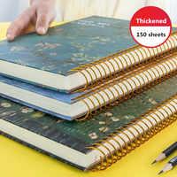 Новинка 2020, 150 листов, утолщенный винтажный блокнот Ван Гога, планировщик, ежедневный, ежемесячный, для учебы, работы, блокнот, школьные канце...