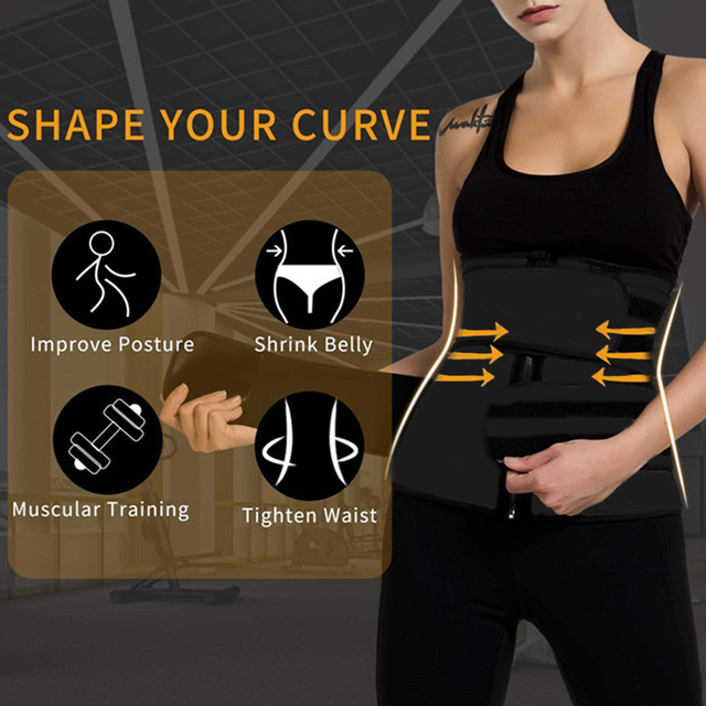 Fitness Body Shaper Band Weight Loss Sweat Slimming Waist Trainer Support Belt for Effective Working-out Accessories Dropship
