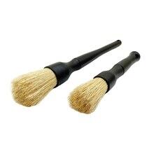 Detailing Brush z Premium naturalne włosie dzika szczotka do włosów samochodowych szczotka samochodowa idealna do czyszczenia motocykli samochodowych