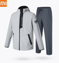 Xiaomi ULEEMARK Men's Softshell Classic sports suit Plus velvet Keep warm Windproof waterproof jacket pants Soft coat trousers(China)