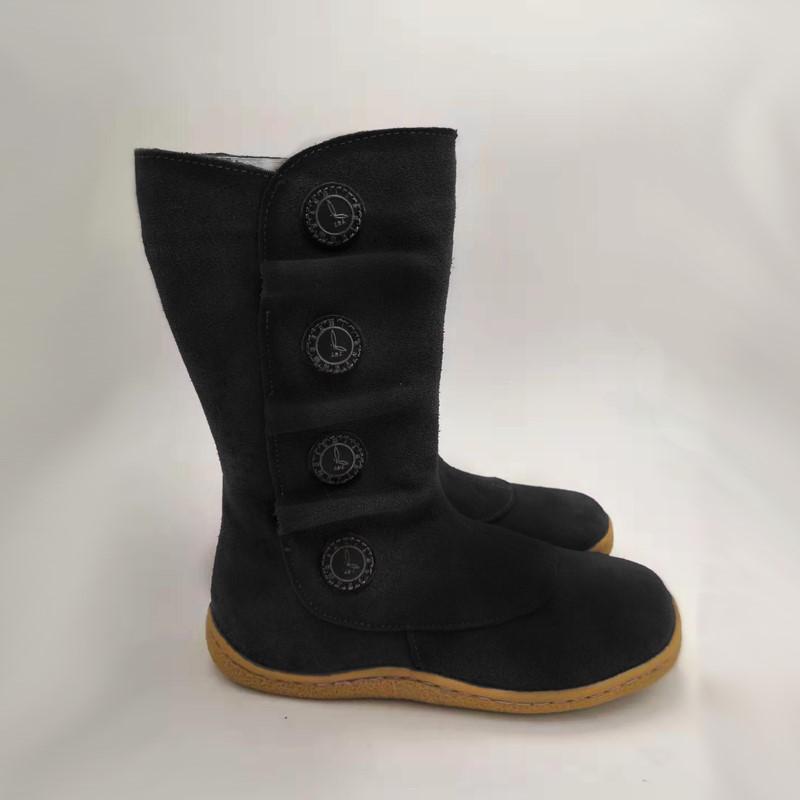 TipsieToes босиком из натуральной кожи для маленьких девочек и мальчиков; детская обувь; модные зимние ботинки; меховые Внутри ZIMNI S KOZISKEM