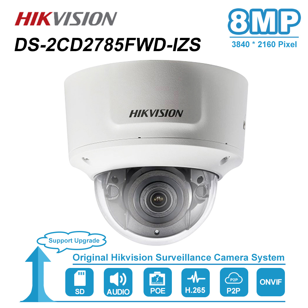 Hikvision 8MP(4K) Dome PoE IP Camera With Audio Home/Outdoor Video CCTV Security Surveillance Night Vision DS 2CD2785FWD IZS|Surveillance Cameras| |  - title=