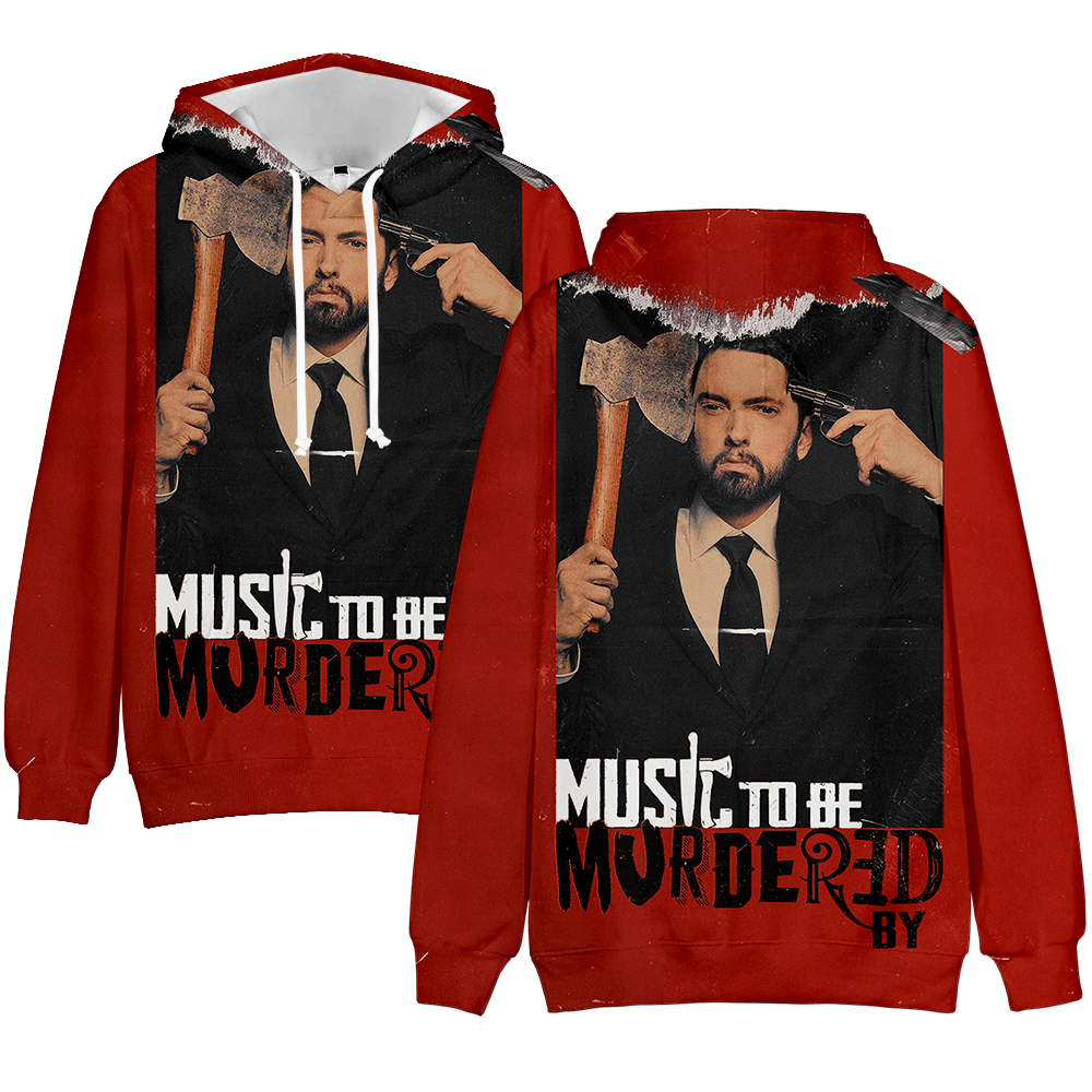 Kpop Music To Be Murdered By Eminem Album Logo Rap Singer Eminem Harajuku Colour Printing Long Sleeve Fleece Hoodies Sweatshirt