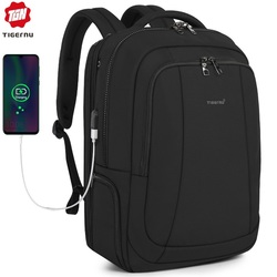 Tigernu 2020 New Fashion Travel 39L 17.3 inch Large Capacity Laptop Backpacks Men Anti theft Zippers Waterproof Male Schoolbags