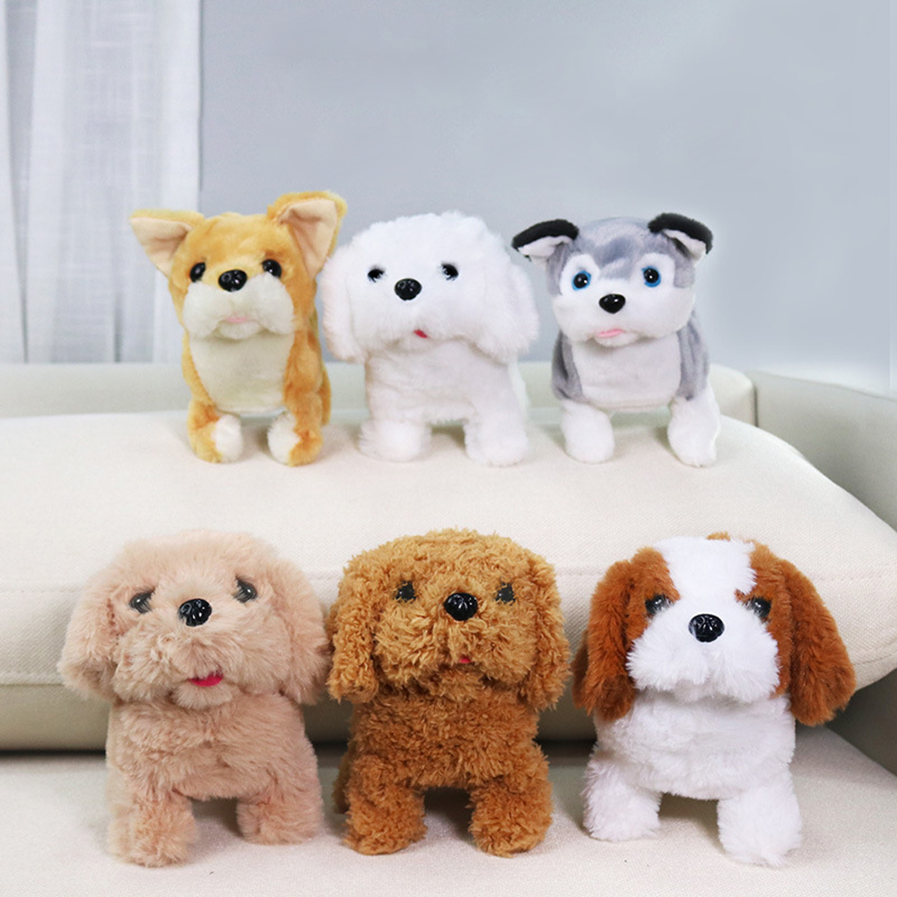 Interactive Plush Puppy Kids Electronic Toys Cute Robot Dog Walk Bark Jump Wag Tail Funny Toys For Children Boys Girls Birthday