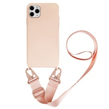 Crossbody Necklace chain Cell Phone Case for iPhone 11 pro XS MAX XR 6 7 8 Plus SE travel Lanyard silicone Cover with neck Strap