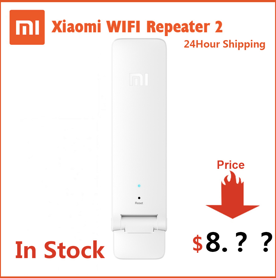 In Stock Original Xiaomi WIFI Repeater 2 Amplifier Extender 2 Universal Repitidor Wi-Fi Extender 300Mbps 802.11n Wireless