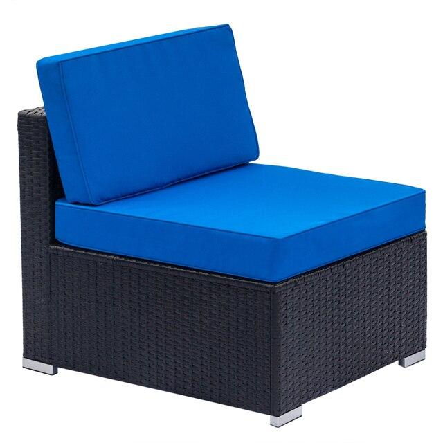Single Sofas  75x65x63CM Blue /Black 1