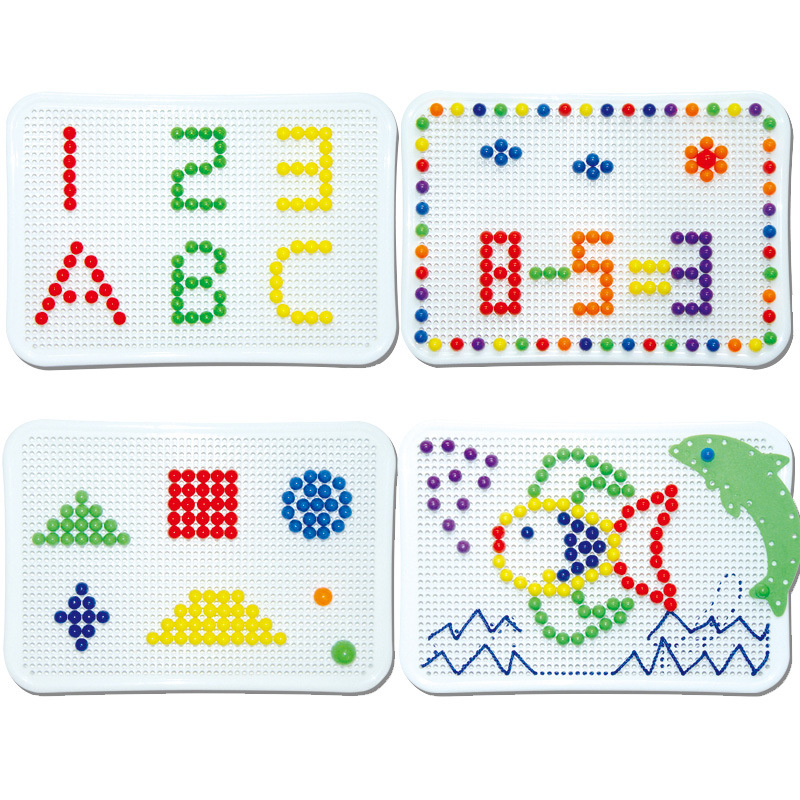 Image 3 - Nails Spelling Puzzle Toys For Kid Gifts 2019 Novelty Child Board Mushroom Nail Combination Building Blocks Puzzle Game Mushroom-in Interconnecting Blocks from Toys & Hobbies