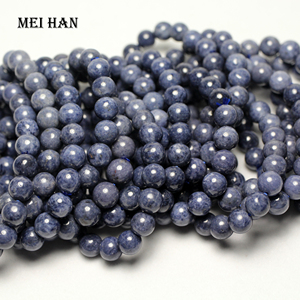 Image 3 - Meihan (1 bracelet)  A+ blue sapphiree 9 9.5mm & 9.5 10mm smooth round loose beads for jewelry DIY