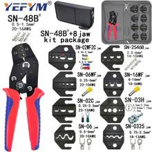 Pince à sertir SN-48B 8 Kit de mâchoires paquet pour 2.8 4.8 6.3 VH2.54 3.96 2510/tube/isolé bornes électriques pince outils Mini