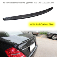 Car Wing Spoiler Real Carbon Fiber Tail Wing for Mercedes Benz S Class Old Type W221 AMG S300 S320L 2005 2012 Car Rear Spoiler