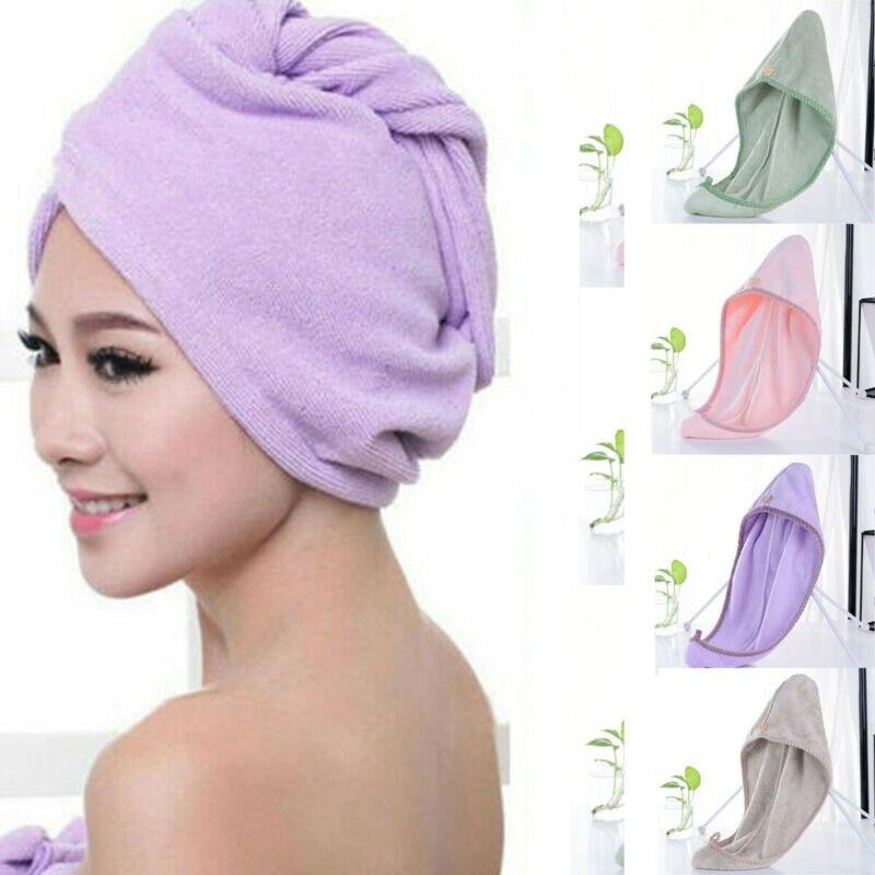 1PCS Rapided Drying Hair Microfiber Towel Quick Dry Hair Hat Wrapped Towel Bathing Cap Hair Dry Caps Towel Bathroom Accessories