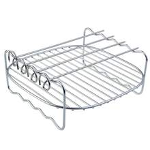 Air fryer Rack Fits all 3.7QT 5.8QT Multi-purpose Double Layer Rack with Skewers Compatible with Phillips, Gowise etc(China)