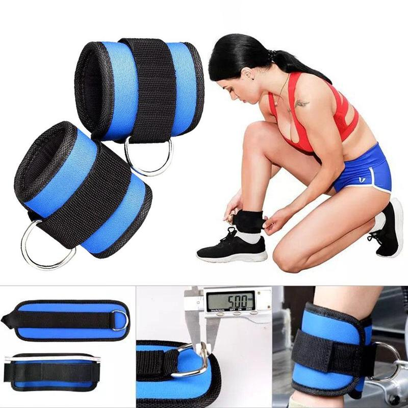1 Pc Sports Safety Ankle Belt Gear D-ring Ankle Strap Buckle Resistance Belt Weight-bearing Power Belt Leg Strength Training