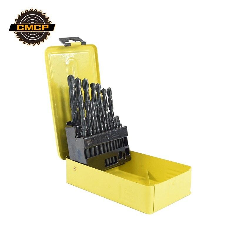 19pcs 1.0-10mm HSS Twist Drill Bit Set Nitriding Coating Metric Drill Bit Core Drill Bit Wood Metal Drilling