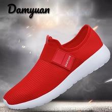 цены на Damyuan 2019 Men Sneakers Air Cushion Outdoor Walking Shoes Mesh Breathable Sport Running Shoes Low Top Soft Casual Sneakers men  в интернет-магазинах