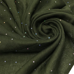 Image 3 - Fashion Viscose Hijabs Scarf Lady Elegant Headband Plain Glitter Sequins Muslim Hijab Women Cotton Islam Scarf Soft Muffler 1pc