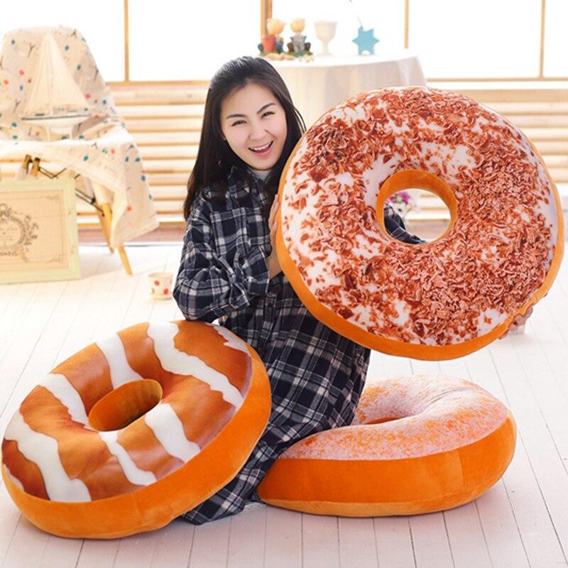 Floor-Seat Plush-Pillow Food Snack Donut Stuffed Strawberry Kids 60cm Mango Tiramisu