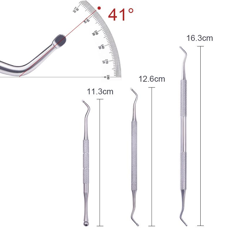 1 Pc Dual-ended Stainless Steel Clean Cuticle Pusher Fork triangular Hook Fixer Remover Foot Care Toe Ingrown Pedicure Tool