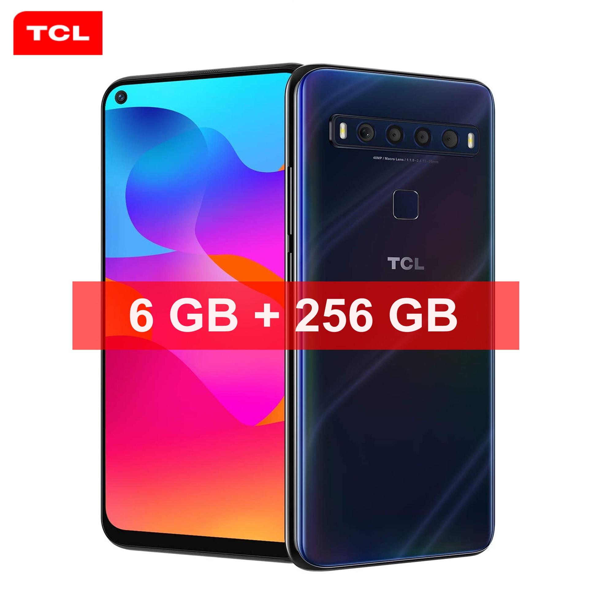 TCL 10L глобальная версия сотовые телефоны разблокирован смартфон 6 ГБ Оперативная память 256 ГБ Встроенная память мобильных телефонов устройс...