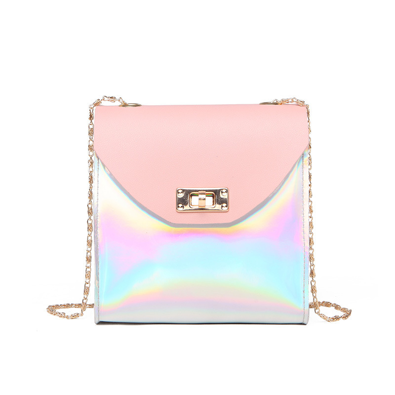 WOMEN'S Bag 2018 Creative New Products Sweet Ladies' Shoulder Purse Sequin Lock Square Sling Bag