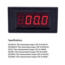 Precyzyjny cyfrowy miliwoltomierz LED DC200MV trzy i pół dodatniego i ujemnego pomiaru napięcia
