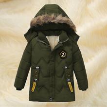Baby Boy kurtki 2020 jesień kurtka zimowa dla chłopców ubrania dla dzieci kurtki płaszcz ciepła kurtka z kapturem dla chłopców płaszcz 2 3 4 5 rok tanie tanio KEAIYOUHUO Moda Poliester COTTON List REGULAR Kurtki płaszcze Pełna Pasuje prawda na wymiar weź swój normalny rozmiar