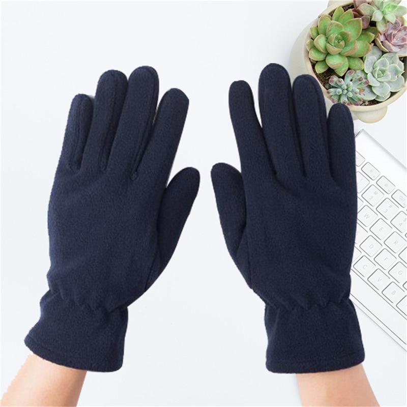 1 пара, новые флисовые перчатки, замшевые зимние теплые перчатки, уличные моющиеся варежки, искусственные пальцы|Мужские перчатки| | АлиЭкспресс