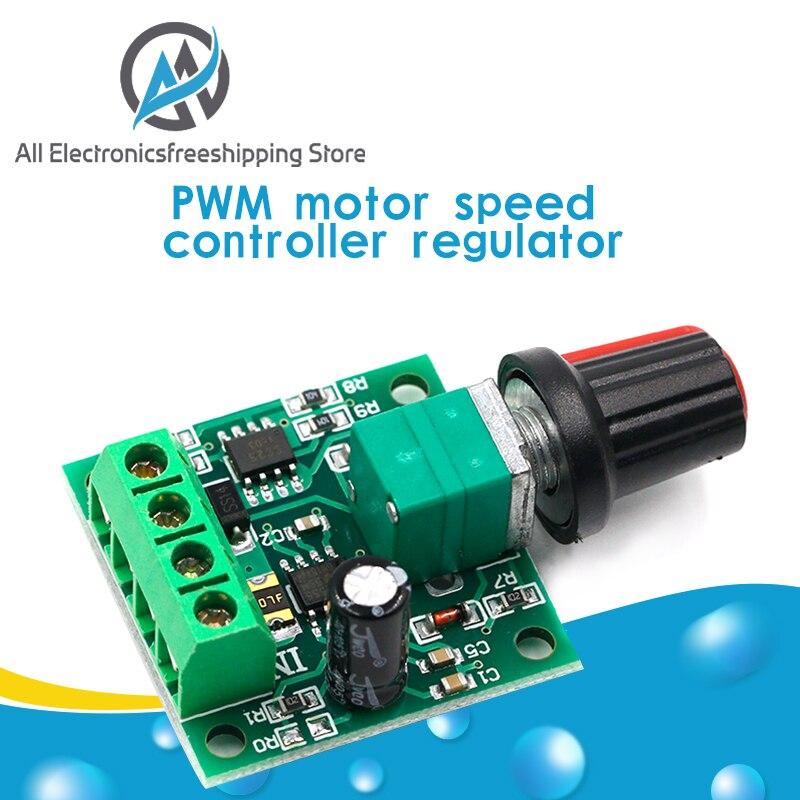 Nuevo Dc 1 8 V 3v 5v 6v 12v 12v 2a Pwm Controlador De Velocidad Del Motor De Bajo Voltaje Controlador De Velocidad Del Motor Pwm 0 100 Ajustable Módulo Regulador