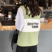 letter print female T-shirt Vest 2019 Summer autumn letter print Vest sleeveless shirt loose casual women's plus size Clothing letter square print t shirt
